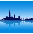 Dublin city skyline silhouette vector image vector image