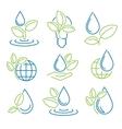 ecology symbol set vector image