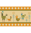 Funny hen background vector image vector image