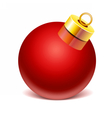 Glass sphere Christmas toy vector image vector image