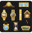 golden watches vector image vector image