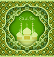 greeting card for eid al-fitr vector image vector image