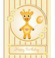 greeting template cute children s birthday party vector image vector image