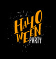 halloween party sign text vector image