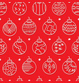 hand drawn seamless pattern with christmas balls vector image