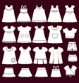 icons baclothes for girls vector image vector image