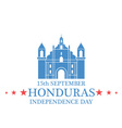 Independence Day Honduras vector image vector image