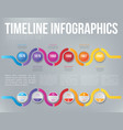 infographics arrow timeline hystory template vector image vector image
