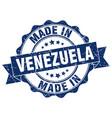 made in venezuela round seal vector image vector image
