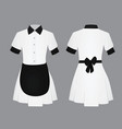 maid uniform vector image