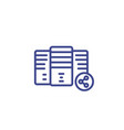 mainframe shared hosting linear icon vector image