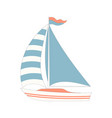 marine cartoon boat isolated vector image
