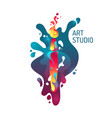 modern vivid poster art studio abstract shapes vector image vector image