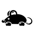 mouse icon simple black style vector image vector image