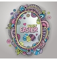 ornamental easter egg frame vector image