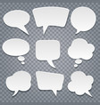 paper cut speech bubbles set vector image vector image