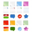 paper stickers vector image vector image