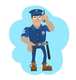policeman talking on a vector image vector image