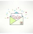 sale envelope in modern flat design Email vector image vector image