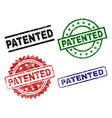 scratched textured patented stamp seals vector image
