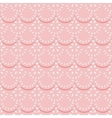 Seamless pattern of pink fabric lace ribbons vector image