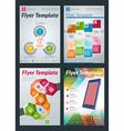Set of Abstract Business Flyer Brochure Design vector image