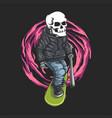 skull skateboard vector image vector image