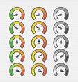 speed metering icons sets vector image vector image