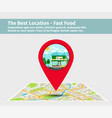 the best location fast food vector image vector image