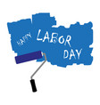 the inscription labor day vector image vector image