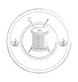 thread spool icon vector image