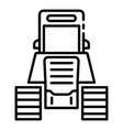 tractor excavator icon outline style vector image vector image