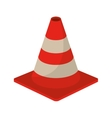 traffic cone warning sign design vector image