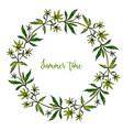 hand drawn summer wreath vector image