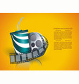 movie time poster design template vector image
