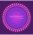 retro circular background with light bulbs retro vector image