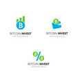 bitcoin investment company logo design vector image