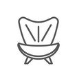 armchair isolated icon in linear style vector image vector image