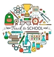 Back School Card vector image vector image