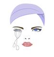bend eyelash vector image vector image