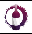 bottle with bubble of wine icon vector image vector image