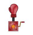 boxing glove surprise joke vector image vector image