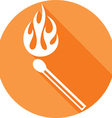 Burning Match Icon vector image