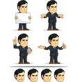 Businessman or Company Executive Customizable 8 vector image vector image