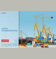 cargo transportation flat landing page vector image vector image