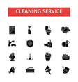 cleaning service thin line icons vector image vector image