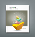 Cover Annual Report triangle connection vector image