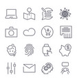 different universal icons thin line and perfect vector image vector image