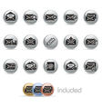 E mail Icons MetalRound Series vector image vector image
