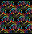 embroidery colorful floral seamless pattern vector image
